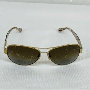 Coach Gold & Tortoise Shell Sunglasses Frames READ